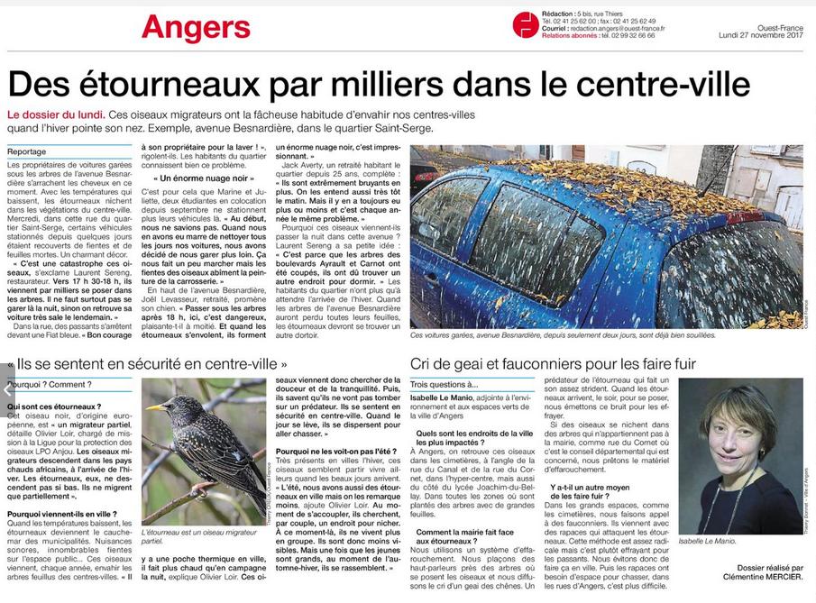 27nov2017-Ouest France-EtourneauxAngers